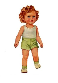 """Baby Mine Paper Doll """"Peter"""""""