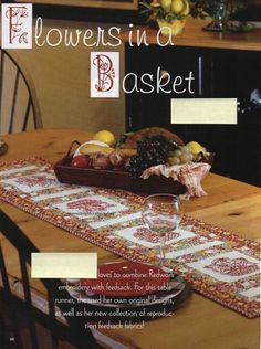 A magazine page may be color photocopied if another pattern appears on the back of one of the pages in the pattern. Floral Quilts, Basket Quilt, Feed Sacks, Quilt Blocks, Quilt Patterns, Finding Yourself, Table, Flowers, Quilt Pattern