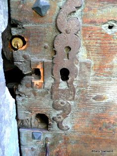 This wonderful old door has had lots of changes of locks !