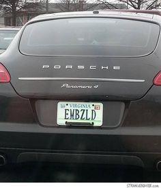 funny vanity license plate
