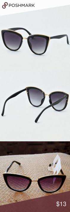 45484b6459d american eagle outfitters cat eye sunglasses american eagle outfitters black  with gold trim cat eye sunglasses