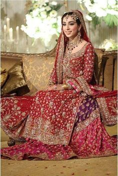 The Pakistani Bridal Dresses 2017 reveal shades and designs for shaadi season.Collection of the most beautiful Pakistani Bridal dresses Latest Bridal Dresses, Asian Bridal Dresses, Beautiful Bridal Dresses, Asian Wedding Dress, Pakistani Wedding Outfits, Pakistani Wedding Dresses, Bridal Outfits, Indian Dresses, Wedding Lehnga