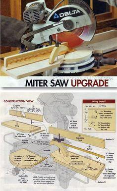 Miter Saw Upgrade - Miter Saw Tips, Jigs and Fixtures | WoodArchivist.com