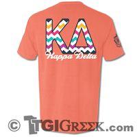 TGI Greek - Kappa Delta - Comfort Colors Chevron Shirt