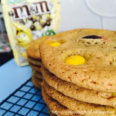 Miki's Food Archives : Banana M&M Cookies 巨无霸M&M饼干