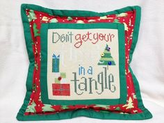 Lizzie Kate  Finished Cross Stitch  Don't Get Your by homecrafting, $16.50