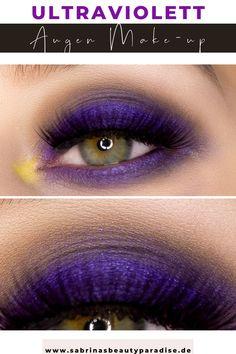 Schimmerndes ultraviolettes Augen Makeup mit der Morphe x Maddie Ziegler The Imagination Eyeshadow Palette. Augen Make-up Ideen mit Morphe Lidschatten in Lila und Schwarz. Grundge Make-up Look.