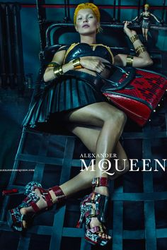Kate Moss for Alexander McQueen Campaign (Vogue.com UK)