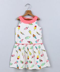 Beebay White Ice Cream Dress - Infant, Toddler & Girls | zulily