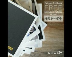 Chatbooks code first one free!