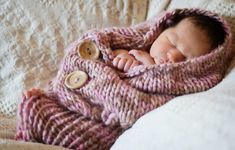 Knitted Baby Cocoon Free Pattern