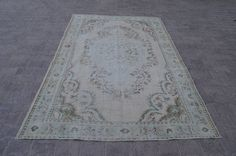 Overdyed Rug 8,9x5,7 Feet 272x174 Cm Vintage Oushak Carpet Rug Home Floor Decor Turkish Carpet Rug Overdyed Rug