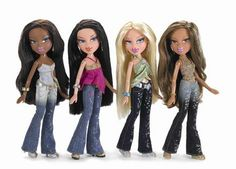 Bratz and their click able feet!  Have a lot of them. Yasmine was the favorite since she resembled my daughter the most