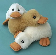 Fluffy Duck Pattern - PDF by Raggy Dolls - Craftsy