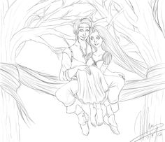 Tangled in the Trees - lines by =SkyBlue-Shores on deviantART