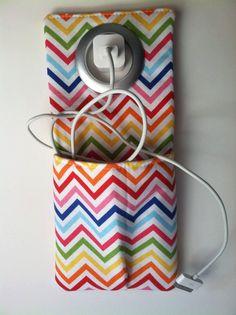 Cell Phone Wall Socket Charging Holder  FREE door CraftyFrogDesigns, $17,00