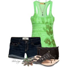 A fashion look from June 2014 featuring C'N'C tops, Hollister Co. shorts and Clarks sandals. Browse and shop related looks.