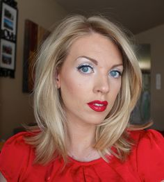 Sam Schuerman: Red, White & Blue Baby! 4th of July Makeup!