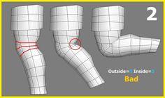 遊戲模型佈線對動作變形之影響(1)-手肘膝蓋篇 @ WaHaHa 3D :: 痞客邦 PIXNET ::