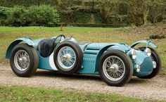 """With just three owners from new, Chassis 110057 carries a stellar period racing history, including a """"works"""" entry at the 1951 24 Hours of Le Mans with Louis Rosier and Juan-Manuel Fangio co-driving. Other entries include such legendary venues as Monaco and Montlhéry with Georges Grignard, Guy Mairesse, and other noted drivers. Under single ownership since 1958, the T26 GS has been carefully maintained, restored, and successfully campaigned. It exemplifies one of the greatest French racing…"""