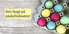 DIY easter egg- DIY påskeegg - farge