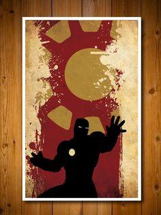 Retro Avengers Movie Poster - Iron Man. via Etsy.