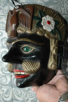 Auth Guatemalan Dance Mask Tecum Mayan Warrior Fine Art Glass Eyes Etc | eBay