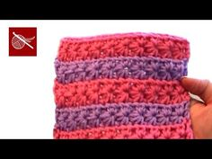 How To Crochet Star Stitch Pattern - YouTube