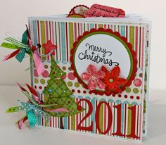 Image Detail for - Mini Album Christmas Scrapbook Snowman 2011 Premade by ArtsyAlbums