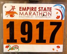 6th Half Marathon - EMPIRE STATE.   October 19, 2014.  Syracuse, NY.  Time 2:11:42hrs (10:04). Running Bibs, October 19, Empire State, Marathon, Marathons