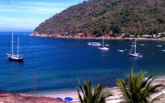 Yelapa.  Beautiful area.  Wrecked my camera here by the waterfalls.  Expensive mistake