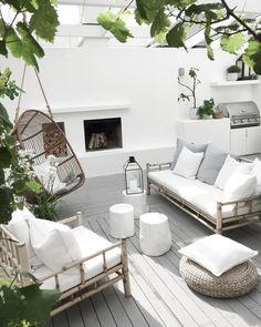 Terrace house design ideas, inspiration & pictures │homify - - Here you will find photos of interior design ideas. Get inspired! Terrasse Design, Patio Design, Exterior Design, House Design, Outdoor Lounge, Outdoor Decor, Outdoor Rooms, Outdoor Lighting, Backyard Patio
