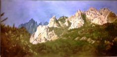 s'il te plait,dessine moi un...:    Bavella Corse Pastel sur toile 40x80
