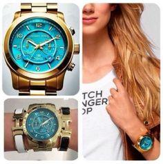 Michael Kors アナログ腕時計 【人気ターコイズ色】Michael Kors MK8315ラウンド腕時計(2)