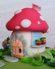 Сказочные домики из банок и полимерной глины | Colors.life