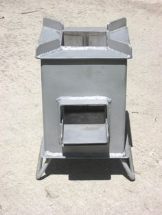 Burns extremely efficient you can cook a meal with for Heavy duty rocket stove