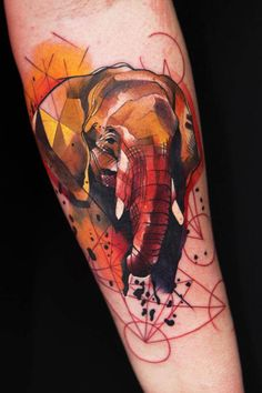 Another great elephant tattoo!