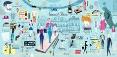 London Fashion week map - Martin Haake