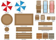 Garden Furniture Top View outdoor furniture top view set 12 for landscape design , vector