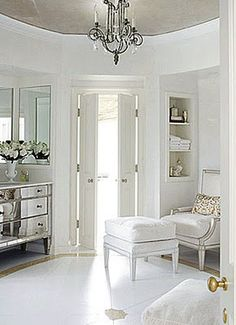 silver & white decor .