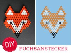 DIY: Hama - Fuchsanstecker