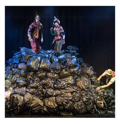 Theatre-Rites - Photo Gallery. Puppets hidden in bin bags