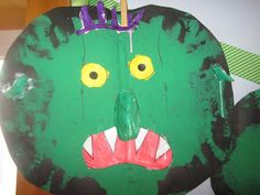 Go away big green monster art template ideas