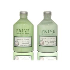 """Prive Reparative Shampoo 250ml + Conditioner 250ml """"Duo Set"""" by Prive. $42.20. Contains selected herbal blends. Prive Reparative Shampoo 250ml + Conditioner 250ml """"Duo Set"""". Designed for all hair types. Restore hairs vitality. Prive Reparative Shampoo & Conditioner was developed using selected herbal blends to achieve even the most challenging styles naturally, products restore hairs vitality and designed for all hair types."""