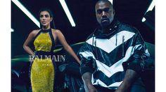 Kanye West and Kim Kardashian West for Balmain