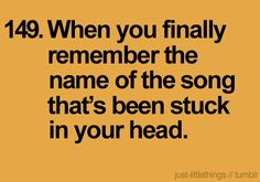 My honey is the guru of knowing all of the names and artists to ANY song....don't know what I'd do without him when I can't remember the name of a certain song...