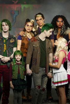 "With Disney Channel's Zombies Baby Ariel Says the Cast ""Became a Big Family"" Disney Channel Stars, Disney Stars, Disney Channel Original, Original Movie, Zombie Disney, Zombie Birthday Parties, Zombie Party, Vanessa Morgan, Cameron Boyce"