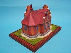 A Simple Chapel Ver.2 Free Building Paper Model Download - http://www.papercraftsquare.com/simple-chapel-v2-free-building-paper-model-download.html#1150, #BuildingPaperModel, #Chapel