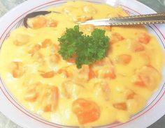 Édesburgonya főzelék 🥘 Cheeseburger Chowder, Soup, Soups
