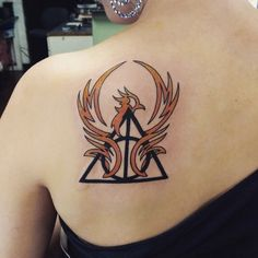 This Deathly Hallows tattoo is perfect!